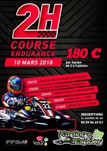 Endurance 10 Mars 2018
