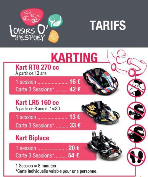 tarif karting